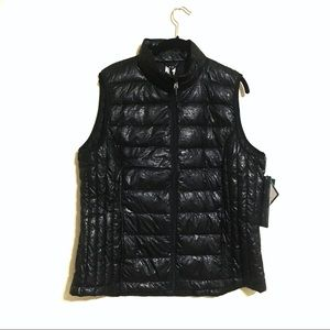 32 degrees heat packable down puffer vest black XL